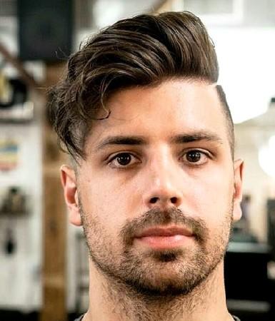 model rambut pria untuk wajah bulat dan pipi tembem