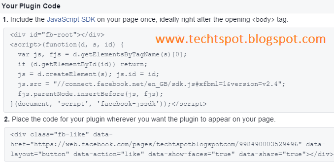add facebook follow button on blogger posts
