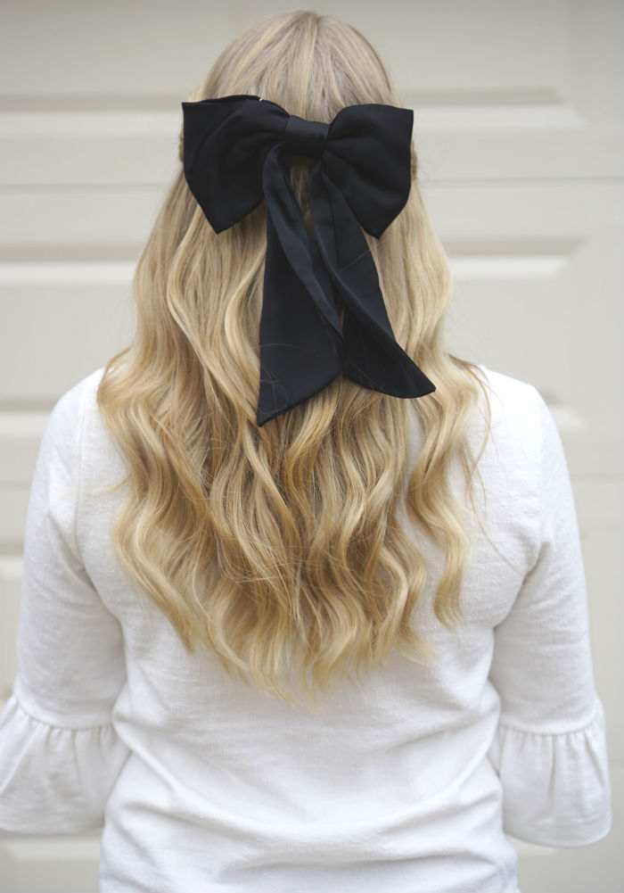 long hairstyle ideas, hair bow,