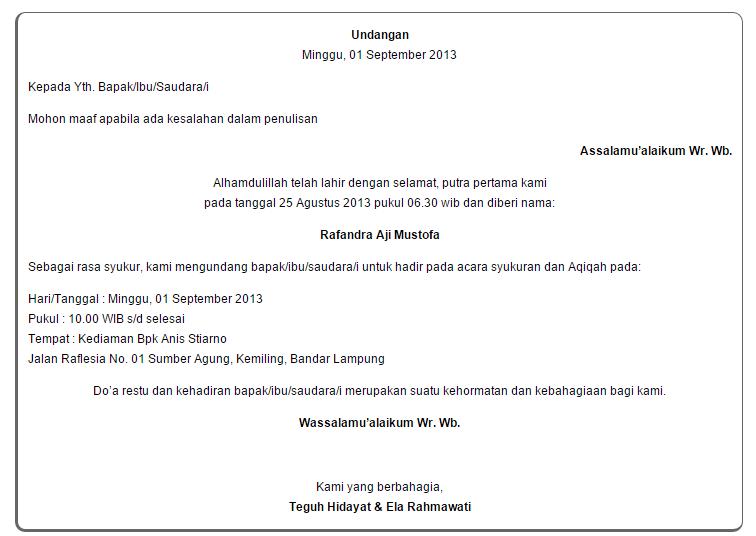 Contoh Surat Akikah Doc Surat W Wallpaperzenorg