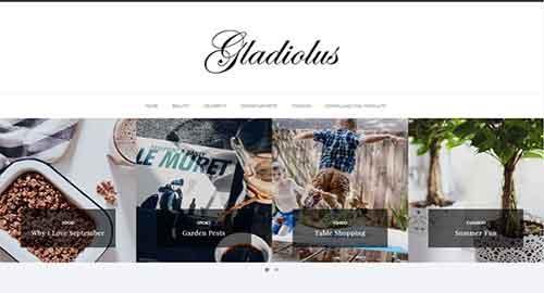 Gladiolus Minimal Blogger Template