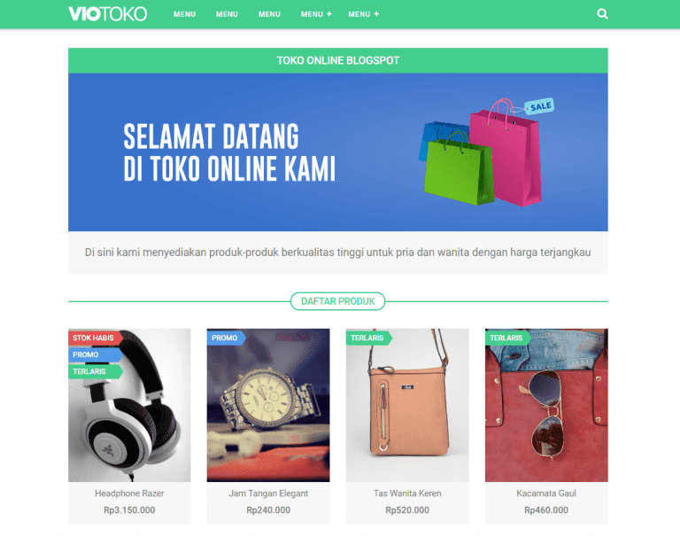 theme toko online blogger recomended