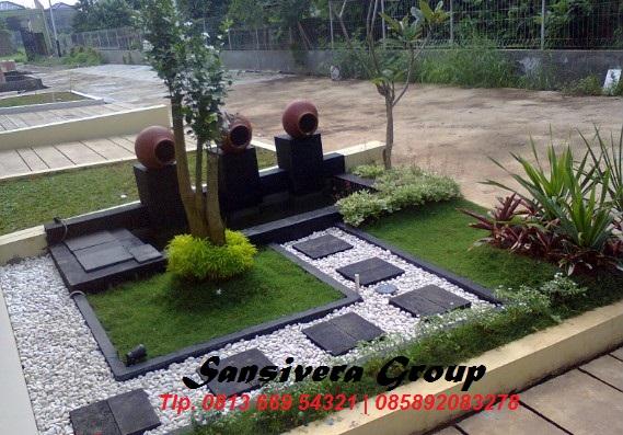 Contoh Desain Taman Kolam Minimalis Depan Rumah