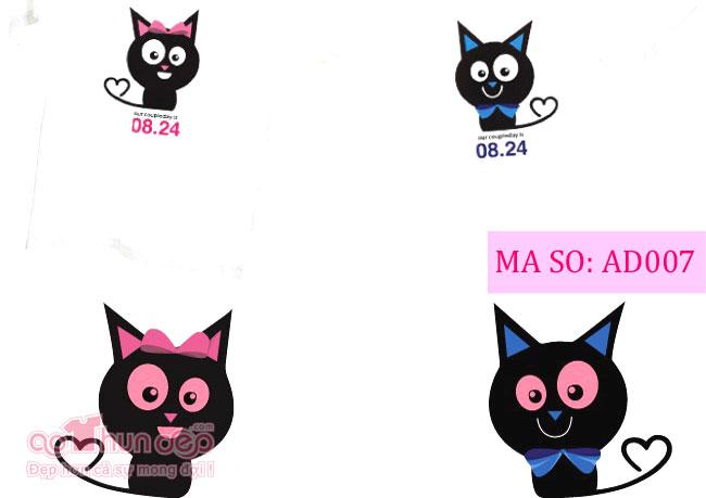 Áo Cặp Con Mèo Đen Mã AD007