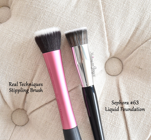 Sephora #63 Liquid Foundation Dupe Real Techniques Stippling Brush Review