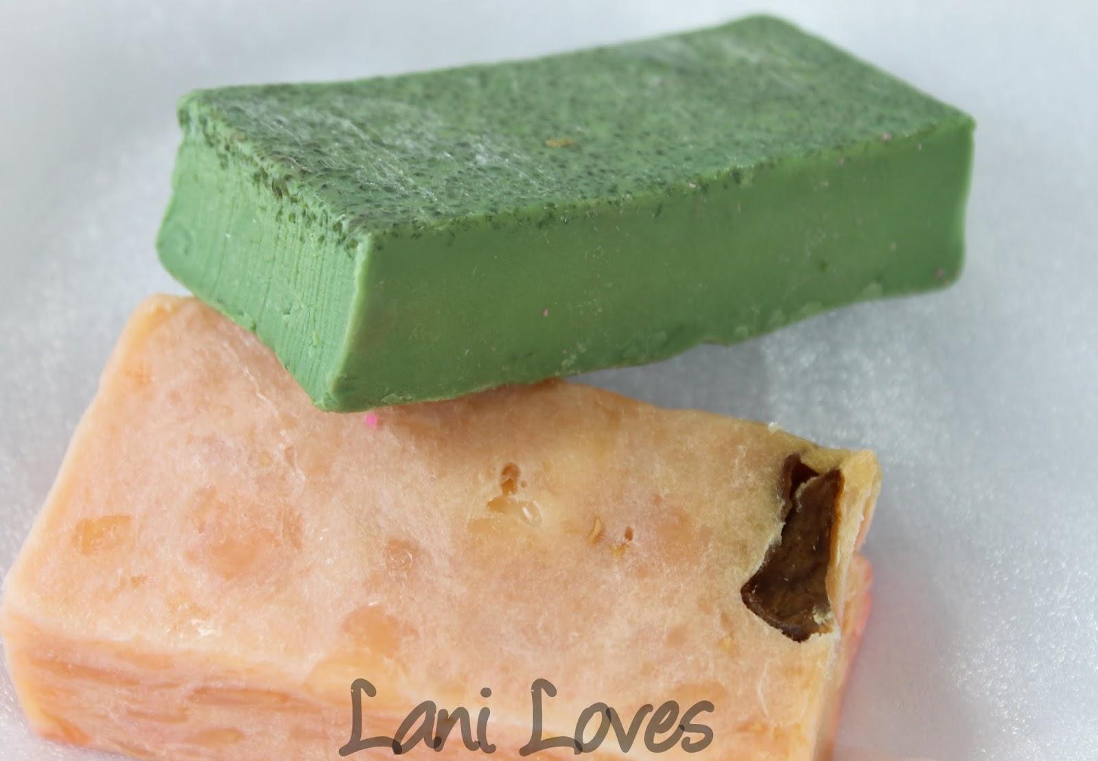 LUSH Parsley Porridge and Mangnificent soaps