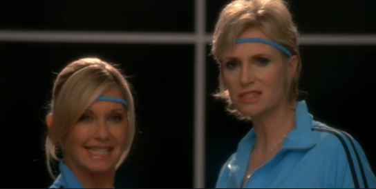 Sue Sylvester & Olivia Newton John, Let's Get Physical