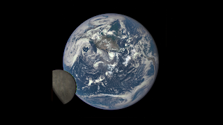 Earth and the far side of the Moon seen by DSCOVR Observatory