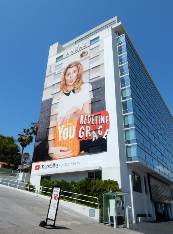 Giant Grace Helbig YouTube billboard