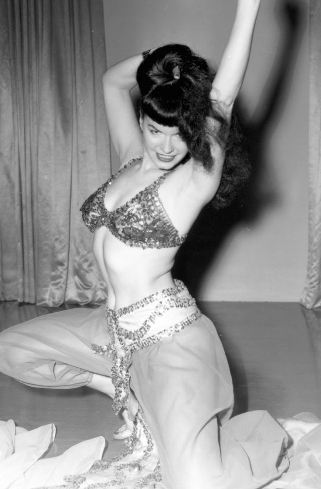 Betty Page Photos: Vintage Pictures Of Bettie Page As A Belly Dancer In The