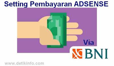 pembayaran adsense via BNI