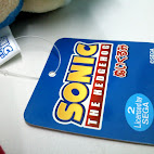 Tag front of Sonic stuffed toy
