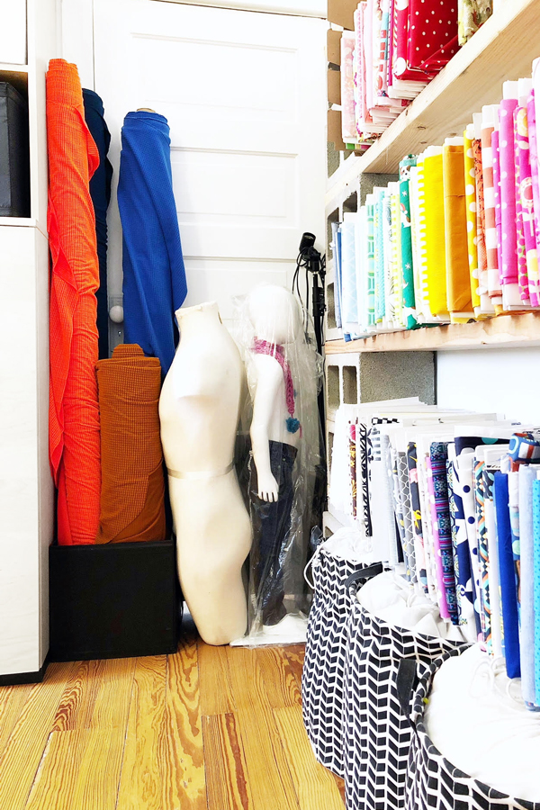 How to organize your fabric stash