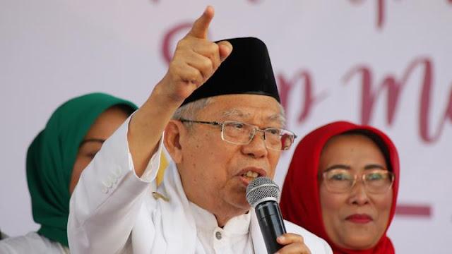 Ma'ruf Amin: Jangan Pilih Pemimpin yang Bodoh