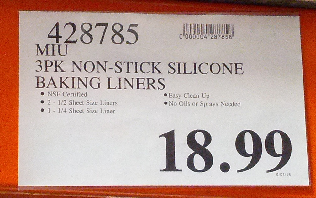 Deal For A 3 Pack Of Miu Non Stick Silicone Baking Liners At Costco
