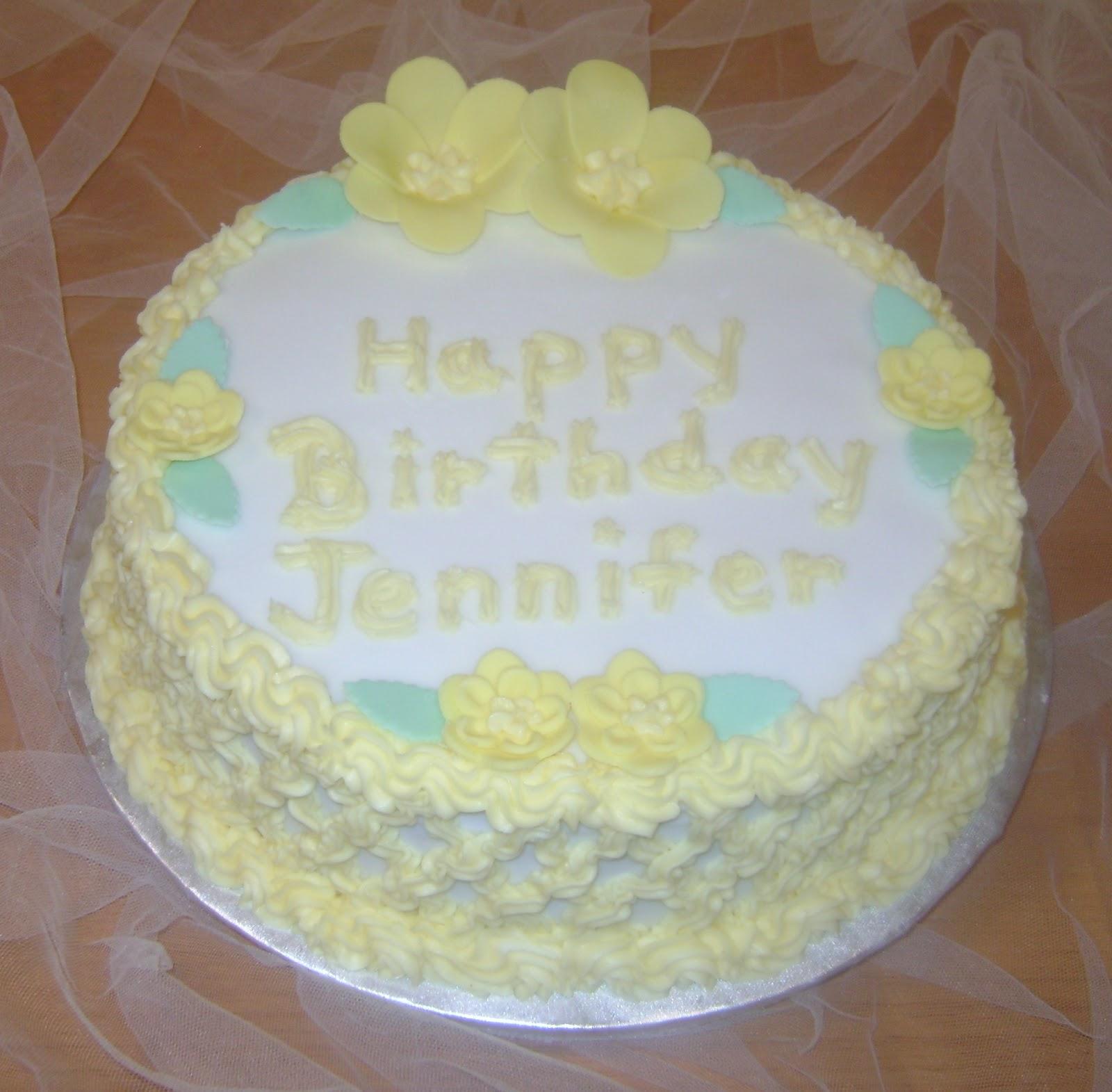 Marilyn's Caribbean Cakes: Happy Birthday Jennifer