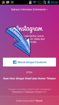 masuk instagram lewat facebook