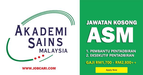 Jawatan Kosong di Akademi Sains Malaysia ASM