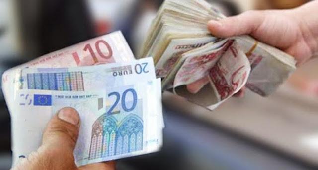 تحويل الدينار الجزائر الي الاورو convert Algerian Dinar to Euros