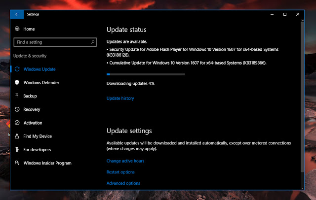 Cumulative update KB3189866 for Windows 10 Version 1607 Build 14393.187