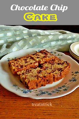 Chocolate Chip Cake Recipe @ http://treatntrick.blogspot.com