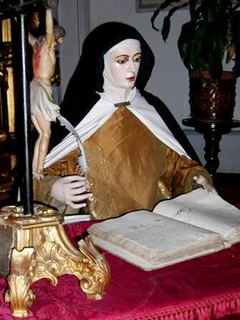 Foto de Santa Teresa de Avila en cera
