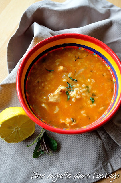 Soupe au poulet et à la menthe  soupe marocaine