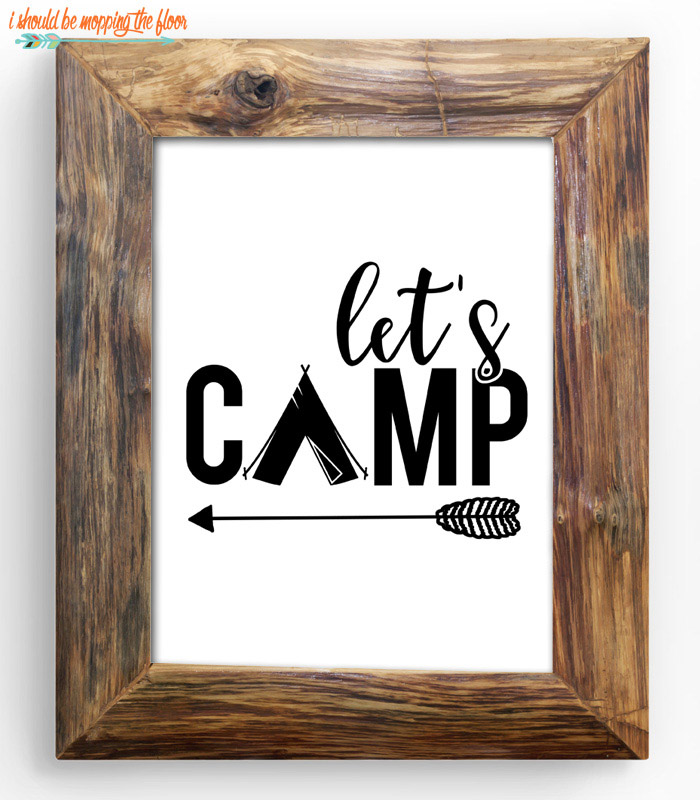 Let's Camp Printable