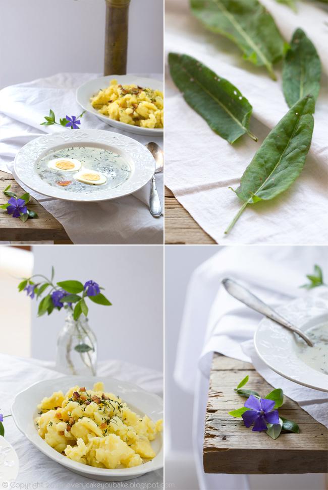 zupa szczawiowa z pokrzywą i jajkiem na twardo