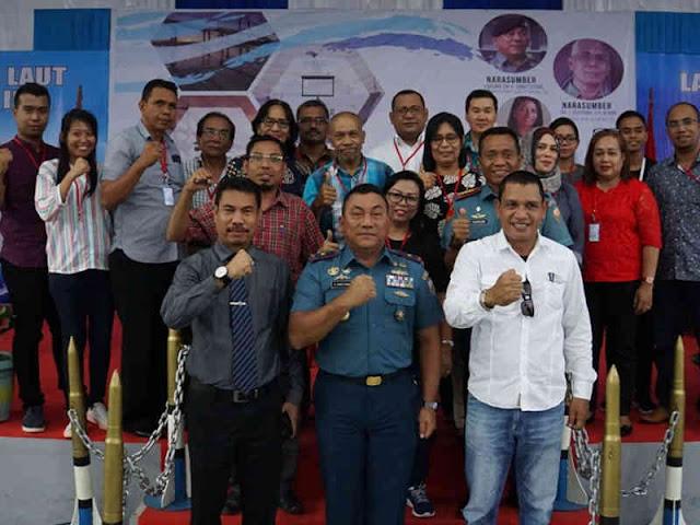 Antongan Simatupang Berikan Seminar Jaga Laut Kita di Debat Fakultas Hukum Unpatti