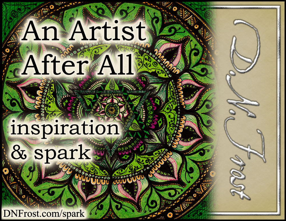 An Artist After All: seeing my creativity as art http://www.dnfrost.com/2017/05/an-artist-after-all-inspiration-spark.html #TotKW Inspiration and spark by D.N.Frost @DNFrost13 Part of a series.