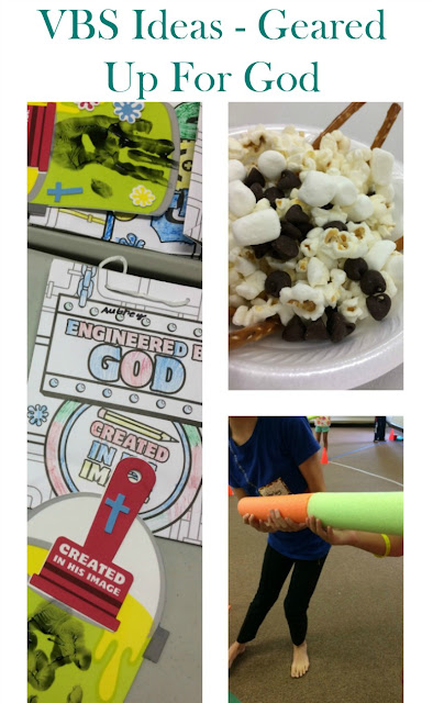 Here is how we pulled off  our Geared Up for God VBS with just the basics.