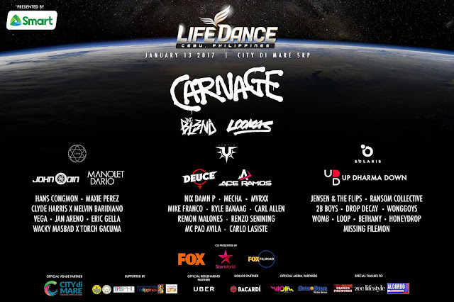 LifeDance 2017 Line Up of DJs