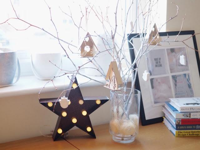 winter tree twigs decoration