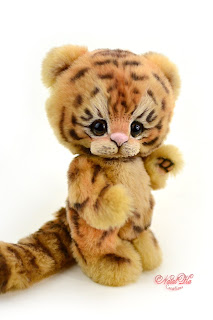 Artist teddy tiger, teddy ooak, NatalKa Creations, teddies with charm, tiger teddy, artist tiger, Künstler Tiger, Unikat, Künstlerteddy, Teddy, Teddys, Tiger