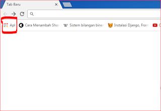 Tampilan Awal Chrome