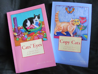 Covers of Cats' Eyes and Copy Cats books, by Mollie Hunt