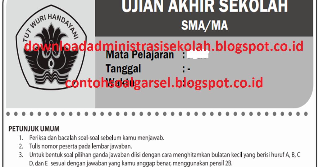 Soal UAS Matematika SMA Kelas X, XI, XII Kurikulum 2013 ...
