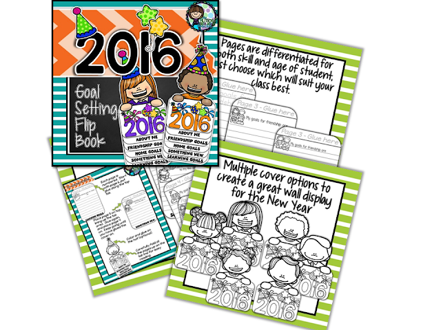 New Years 2016 - Goal Setting Flip Book