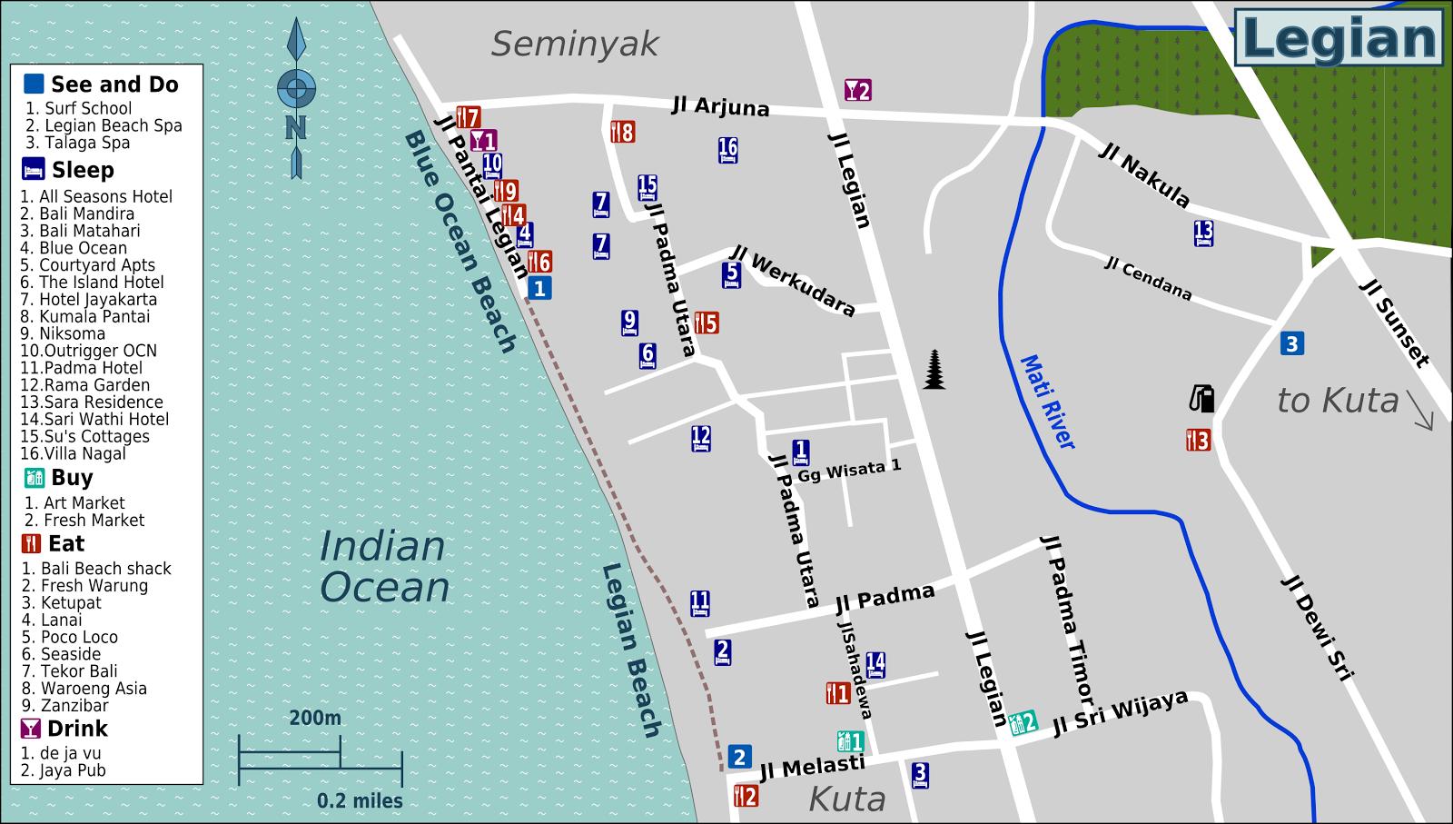 Bali-Legian-Map Bali Wikitravel