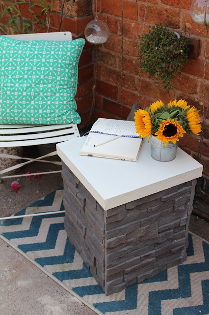 diy side table with concrete top