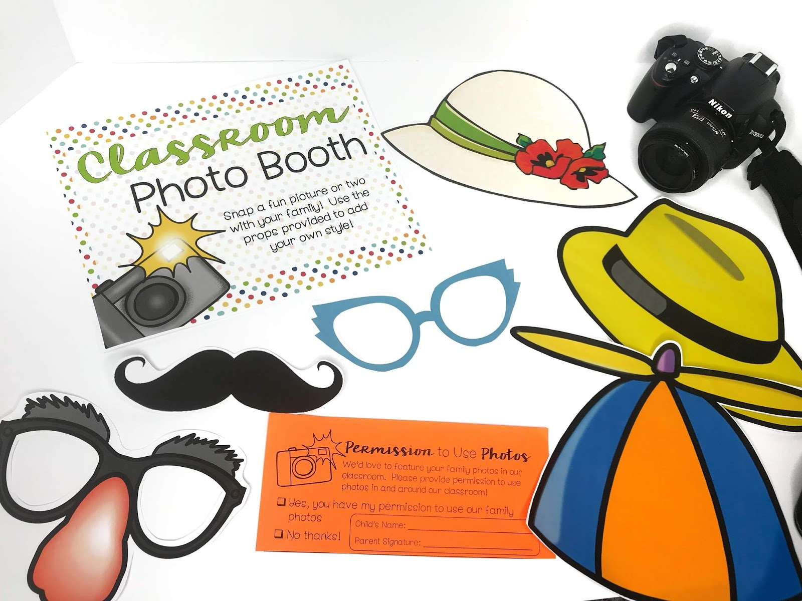 open house photo booth - fun for the whole family!