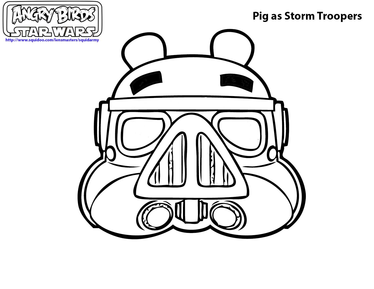 Angry Bird Coloring Page Angry Birds Star Wars Coloring Pages