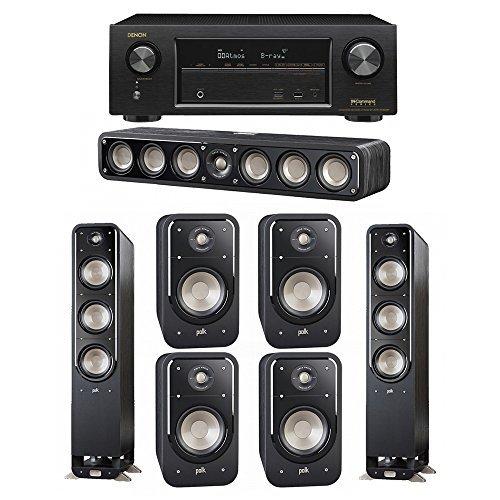 Best Price of Polk Audio Signature 7 0 System with 2 S60 Tower Speaker, 1  Polk S35 Center Speaker, 4 Polk S20 Bookshelf Speaker , 1 Denon AVR-X1300W