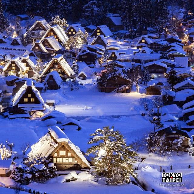 【白川鄉冬季點燈】白雪燈光合掌屋 可遇不可求的超熱門夢幻景象
