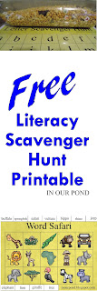 FREE ABC Scavenger Hunt Bottle Printable