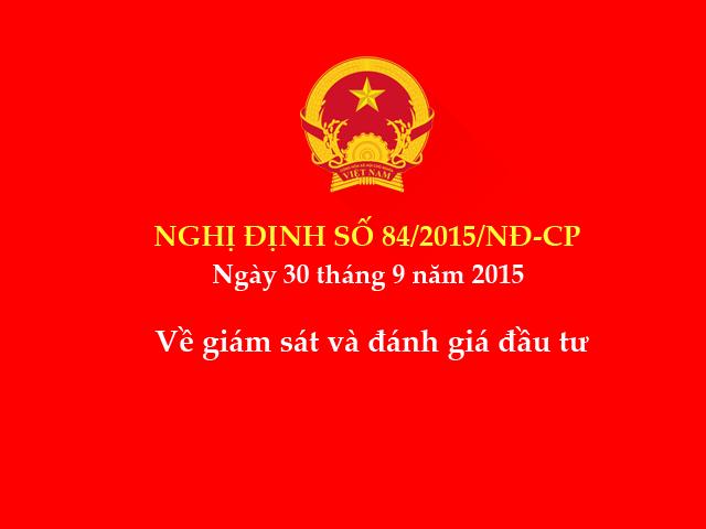 Nghị định số 84/2015/NĐ-CP ngày 30/9/2015