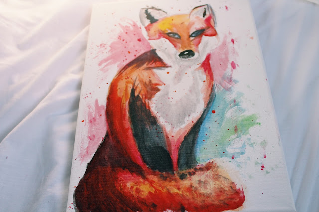 fox watercolour painting