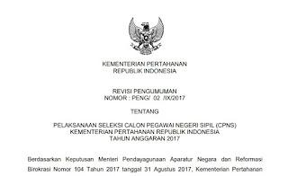 Info CPNS Kemenhan 2017