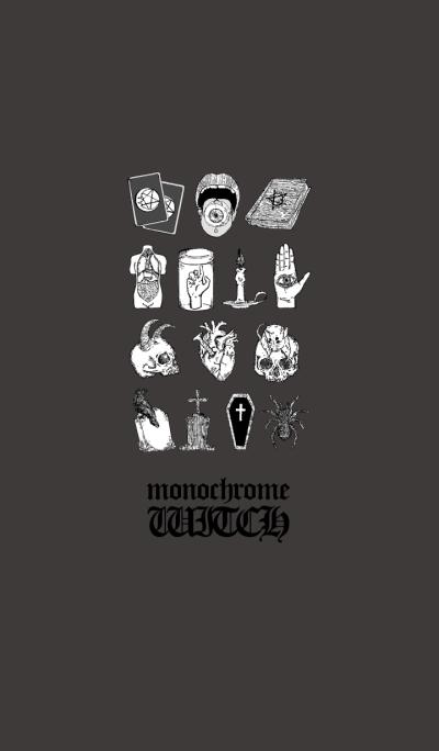 monochrome witch